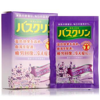 京东PLUS会员:巴斯克林(Bathclin)温热香浴盐(薰衣草香型) 20g*5包(日本进口足浴泡浴盐) *3件