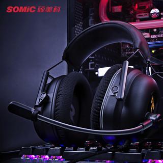 SOMiC 硕美科 G936N 耳机 (通用、动圈、头戴式、2200Ω、黑色)