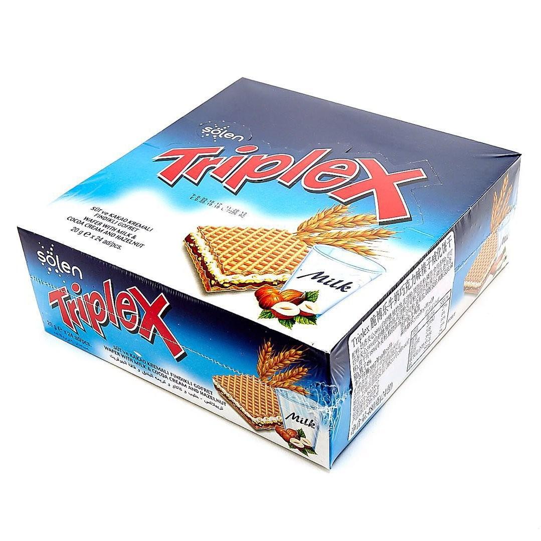Triplex 脆博乐 牛奶巧克力榛子威化饼干 480g *3件