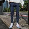 WEIRAN 牛仔裤男春夏季直筒修身型小脚裤休闲男裤子潮牌弹力 90元