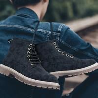 CELE 策乐 M8D2Z88801 男士休闲工装靴