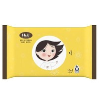 H&U 爱趣优 婴儿手口柔湿巾 10+2片