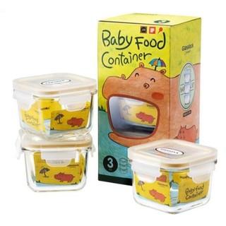 Glasslock baby 婴儿玻璃辅食盒 210ml*3个装