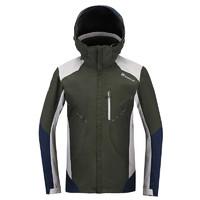 探路者冲锋衣男 冬季男款户外防水防风保暖套绒冲锋衣KAWF91517
