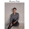 季中折扣 Massimo Dutti 男装 修身版人字细纹混色织纹棉质衬衫 00147200801 350元