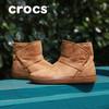 Crocs女鞋 卡骆驰冬季软底女士休闲洛基平底雪地靴短靴|204856 199元