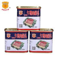 梅林 午餐肉罐头 340g*3罐 *5件