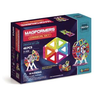 MAGFORMERS 麦格弗 63074 儿童益智玩具磁力片 嘉年华套组 46片装