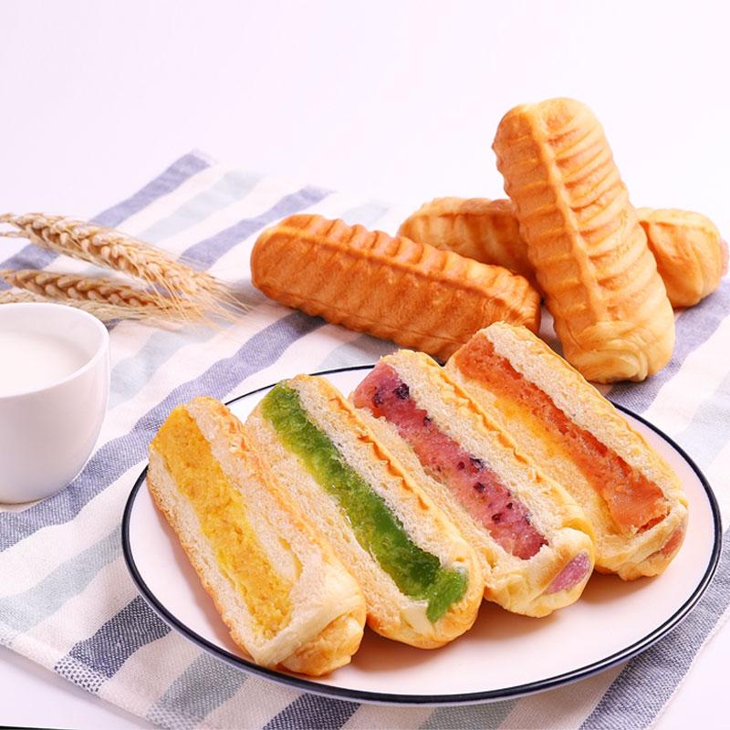 奇分享 华夫夹心软面包 440g 2味可选