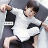 儿童睡衣夏男女童家居服套装纯棉薄款中小童空调服短袖童装夏装 24.9元(需用券)