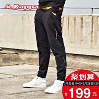 KAPPA卡帕男运动长裤休闲裤卫裤跑步健身小脚裤 K0752AK21