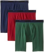 Champion 男式高性能四角裤,3 条装