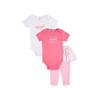 carter's   3个月-2岁 三件套(2连体衣+1裤子)粉色小鸟 图案 *3件