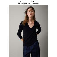 Massimo Dutti 女装 纯羊绒素色针织衫 05666770800