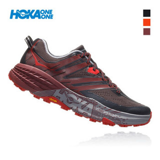 HOKA ONE ONE 1099733-EBLC 飞速羚羊3 男士减震越野跑步鞋 (US 9 /270mm、路面灰 / 波特褐)