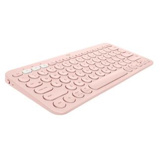 Logitech 罗技 鹅卵石无线鼠标+K380便携键盘套装 (蓝牙、茱萸粉)