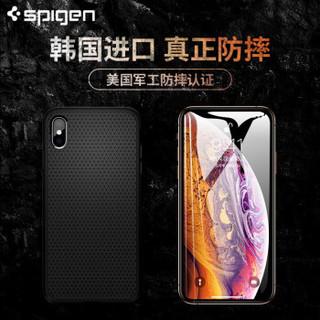 Spigen 苹果X/XS/XR手机壳iPhoneXSMax全包防摔透明硅胶软壳保护壳 军工级防摔