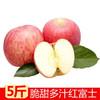 陕西洛川脆甜红富士苹果5斤装 19.9元