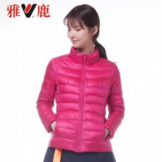 雅鹿 2017年秋季女士尼丝纺羽绒服 YS6101010 (玫红)