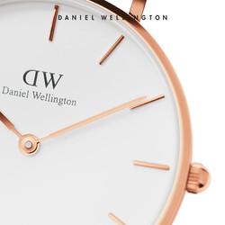 Danielwellington 丹尼尔惠灵顿dw手表28mm白色表带清新气质女表