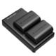 RAVPower 睿能宝 RP-BC003N 佳能 LP-E6 相机兼容电池 组合套装