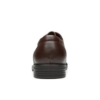 RED DRAGONFLY 红蜻蜓 男士 时尚舒适 牛皮革 车缝线 商务休闲鞋 WTA73762 棕色、41