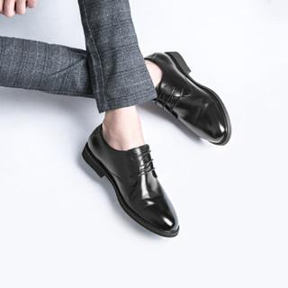 PLAYBOY 花花公子 6CW563010D01 男士商务正装皮鞋 黑色 41