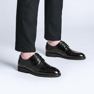 PLAYBOY 花花公子 6CW513009D01 男士系带正装皮鞋 黑色 42