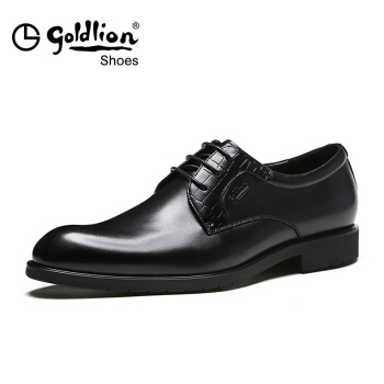 goldlion 金利来 521730665ABA 男士商务正装皮鞋 黑色 41码