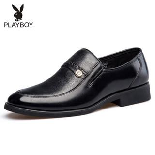 PLAYBOY 花花公子 6CW502052D01 男士经典套脚商务休闲皮鞋