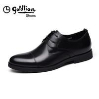 goldlion 金利来 515710154ADB 男士正装系带皮鞋 黑色 40码