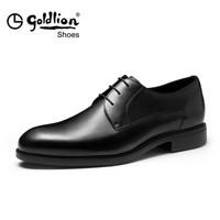 goldlion 金利来 502740441AAA 男士商务正装皮鞋 黑色 42码