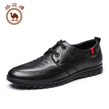 骆驼牌 W832247400 男士小牛皮商务休闲鞋 黑色 41/255码
