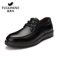 Fuguiniao 富贵鸟 A603002 男士商务休闲皮鞋 黑色 40
