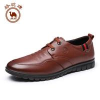 骆驼牌 W832247400 男士小牛皮商务休闲鞋 棕色 40/250码