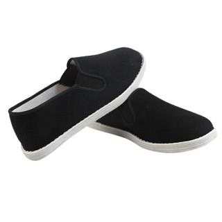 维致 老北京布鞋传统手工千层底 一脚蹬懒人休闲男士低帮 WZ1005 相口 42