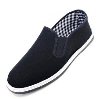 维致 老北京布鞋传统千层底 一脚蹬懒人休闲男士低帮 WZ1003 布面 43