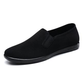 布舍元 71X-8502 男士休闲布鞋 黑色 42码