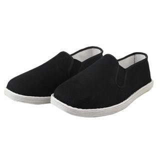 维致 老北京布鞋传统手工千层底 一脚蹬懒人休闲男士低帮 WZ1005 相口 43