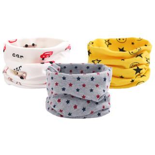 象宝宝(elepbaby)婴儿围脖 多功能宝宝脖套 秋冬棉质儿童围巾 男宝组3条装 *5件