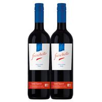 Freschello 弗莱斯凯罗 红葡萄酒 (双支装、10%vol、2、750ml)