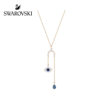SWAROVSKI 施华洛世奇 5425861 恶魔之眼时尚气质Y型项链 (38cm、金色)