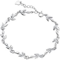 Silverage 银时代 夜来香系列 6D21000000 手链 (4.8g、161mm、银色)