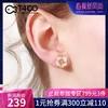 T400樱花纯银耳钉女气质韩国个性简约小清新网红冷淡风耳环 超仙 229元