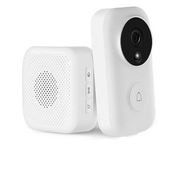 MI 小米 叮零智能视频门铃套装(门铃*1+接收器*1) ( FJ02MLWJ、白色)