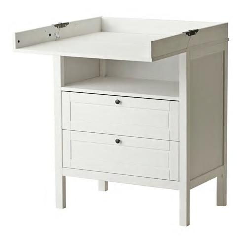 IKEA 宜家 SUNDVIK桑维 婴儿换衣桌/抽屉柜