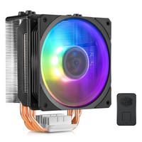 COOLERMASTER 酷冷至尊 T400ARGB 暴雪幻彩CPU静音散热器 (黑色、风冷)