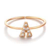 glam ever 你的专属 MR1401A 开口锆石指环 (1.5cm、金色)