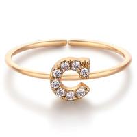 glam ever 你的专属 MR1401C 开口锆石指环 (1.5cm、金色)