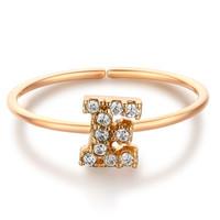 glam ever 你的专属 MR1401E 开口锆石指环 (1.5cm、金色)
